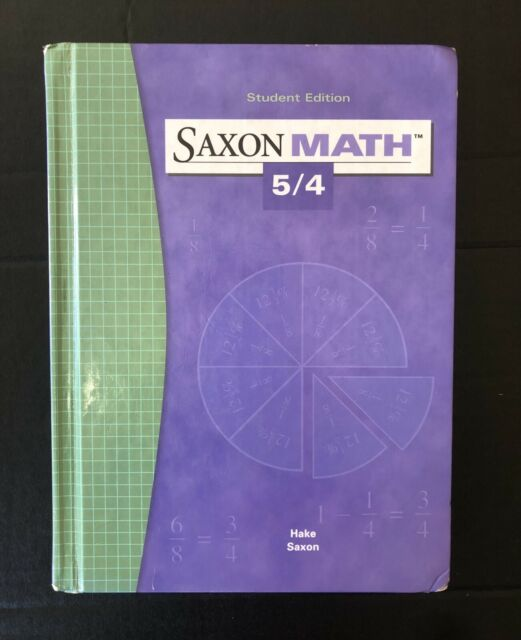 Saxon Math 5/4 Student Edition Textbook
