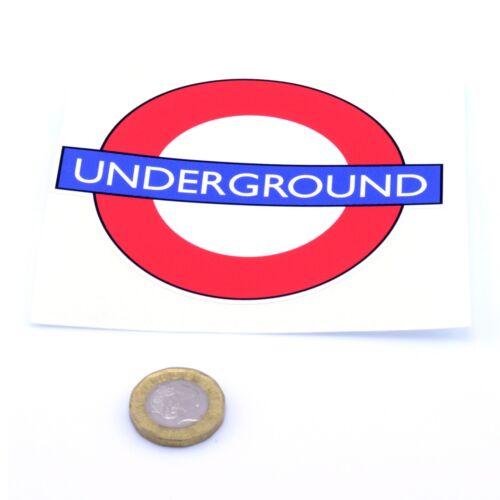 London Underground Autocollant tube Railway Train AUTOCOLLANT VINYLE 100 mm