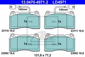 ATE 13.0470-4971.2 Bremsbelag Satz Bremsklötze für ALFA ROMEO LANCIA