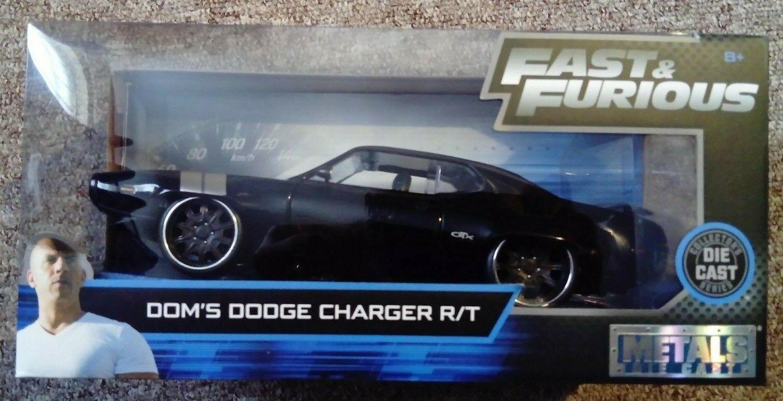 Jada Juguetes Fast & Furioso metales Die Cast error Dom's Dodge Gtx Collector's Nuevo.
