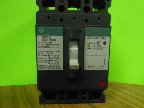 * GENERAL ELECTRIC TED134080 80AMP 3 POLE CIRCUIT BREAKER ....... WA-124