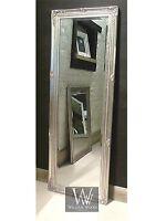 Paris Silver Shabby Chic Full Length Antique Dress Mirror 59 X 21 V Large