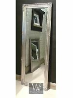 Paris Silver Shabby Chic Full Length Antique Dress Mirror 59 X 21 V Large