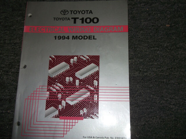 1994 Toyota T100 Electrical Wiring Diagram Service Shop