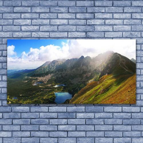 Acrylglasbilder Wandbilder aus Plexiglas® 140x70 Gebirge Wiese Landschaft