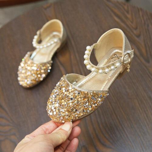 2019 Fashion Children Kids Princess Shoes Sandals Girl Party Dancing Shoes Flats