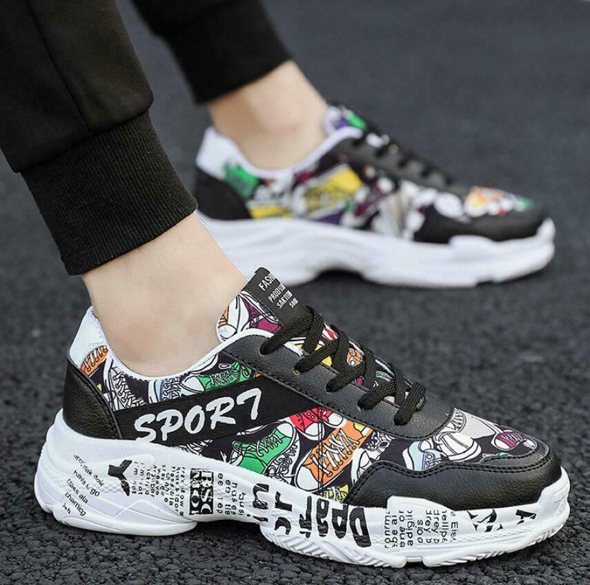 Hot Men's Multicolor Print Athletic Sports shoes Running Walking Casual Occident