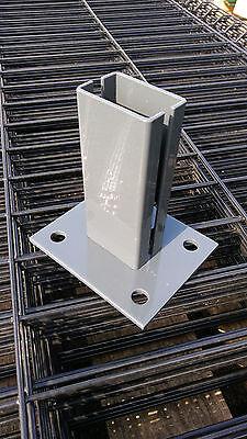 Flexi Bodenplatte Anthraz.Stufenlos verstellbar 60x40 Zaunpfosten Zaun Fußplatte