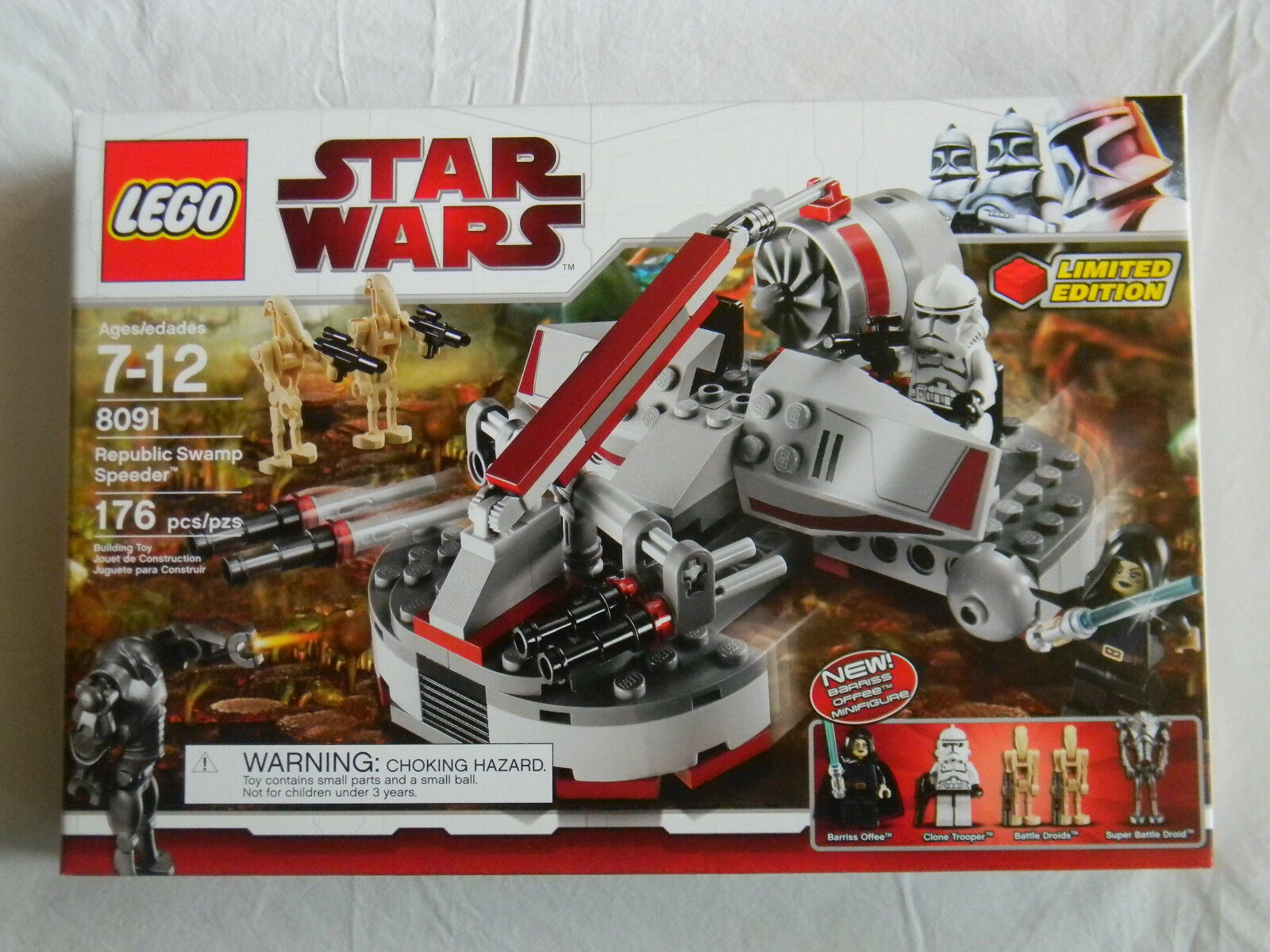 Lego Star Wars 8091 República Swamp Speeder Barriss Offee 2010 Exclusivo Nuevo En Caja
