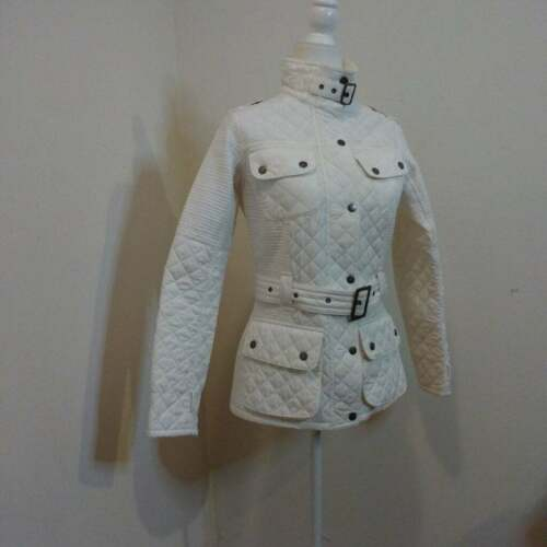 GUC QUILTED BARBOUR BELTED JACKET - image 1