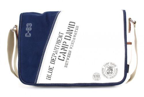 CAMP DAVID Deep River Messengerbag Schultertasche Umhängetasche White