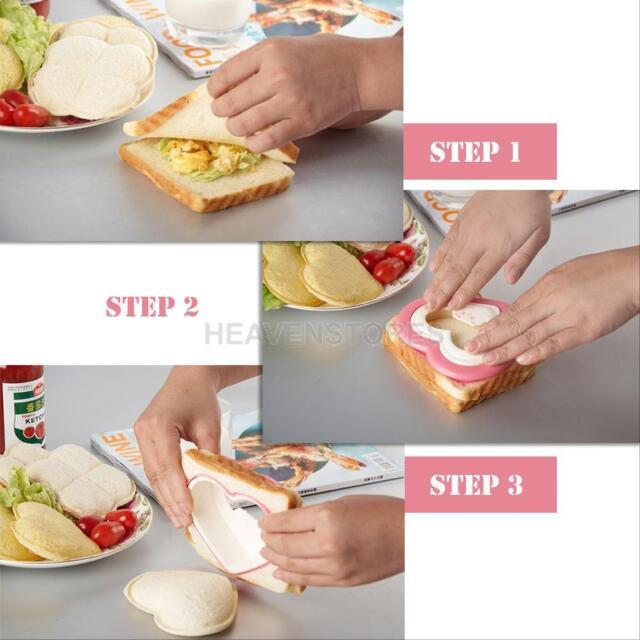 Bread Toast Heart Mold Bento DIY Breakfast Maker Sandwich Cutter Decorating Tool