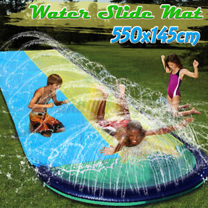 5.5m Dual Person Surf Water Slide Mat Lawn Children Summer Pool Inflatable Games