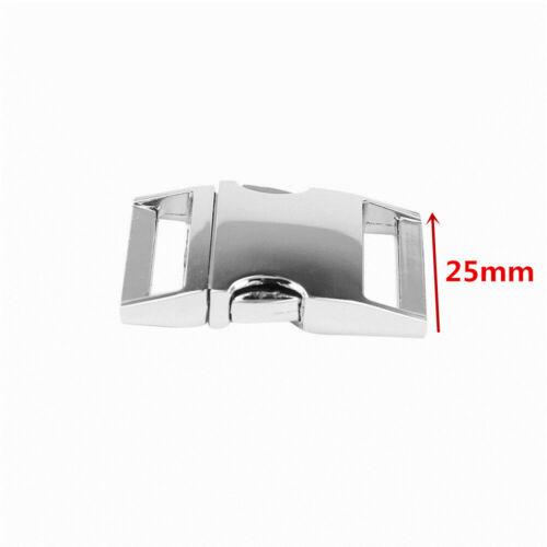 5pcs Silver Metal Buckle Webbing Strap Bag Fastener Side Release Clasp Clip New