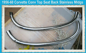 Corvette-1956-1957-1958-Polished-1959-1960-Conv-Top-Deck-Lid-Seat-Back-Stainless