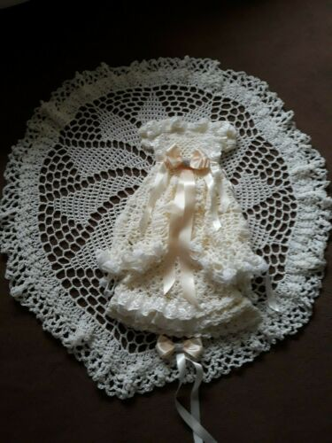 Bespoke Heirloom Baby or Reborn Doll Christening//Baptism Shawl New Crochet