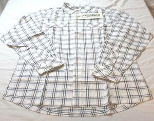 Mountain-Khakis-Mens-Shoreline-100-Cotton-Long-Sleeve-Shirt-Navy-Size-Small-New