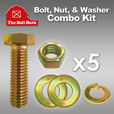 3 5//8-11x4 Grade 8 Dome Head Plow Blade Bolts 5//8-11 Hex Lock Nuts /& Washers