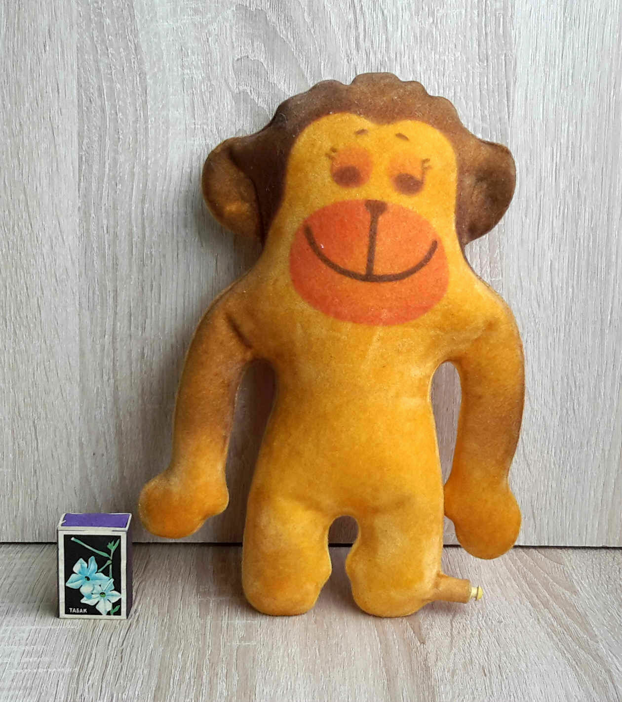 1970's USSR Soviet Estonian INFLATABLE Toy PLUSH Polymer MONKEY