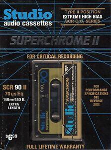 SUPERCHROM II 60 HIGH BIAS TYPE II BLANK AUDIO CASSETTE GERMANY Studio AGFA