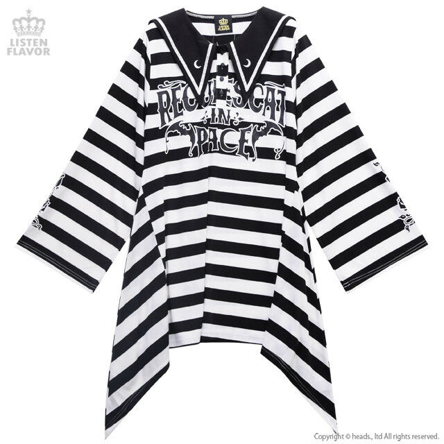 RIP Bat Sailor Dress (Striped)