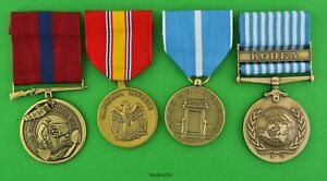 Marine-Corps-Korean-War-4-Service-Medal-Set-earned-by-USMC-Forces-in-Korea