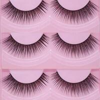 New 10 Pairs Natural Cross Eye Lashes Extension Makeup Long False Eyelashes