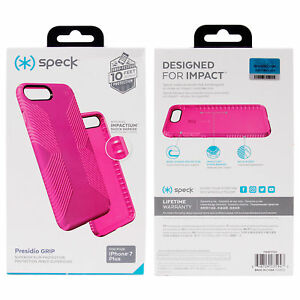 new styles 69961 74c8a Details about Speck Presidio Grip Case for iPhone 8 Plus 7 Plus 6s Plus  Lipstick Pink NEW