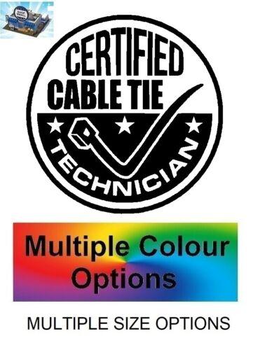 Certified Cable Tie TECHNICIEN autocollant Camper Mécanicien Voiture Van Autocollant Vinyle CCT10