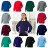 School Uniform Sweatshirt Jumper Boy Girl Russell Jerzees Childrens Crew Neck