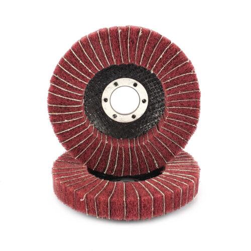 "4-1//2/"" 115mm Fiber Flap Polishing Wheel Nylon Abrasive Buffing Disc For Metal"