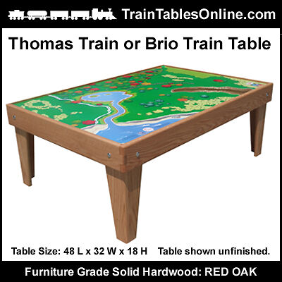 Custom OAK TRAIN TABLE Playtable for THOMAS Playboard
