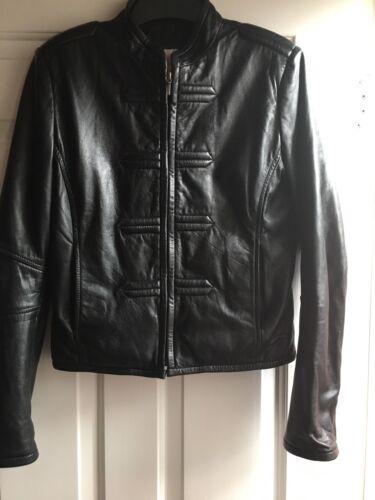 Leather Strok Size Real £189 Gharani London In L gt;rrp gt; Uk Jacket dtqRYn