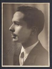 King Hussein of Jordan Antique Royal Signed Photograph 1960