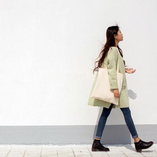 Portable noir Shopping Style Coton Sacs De Sac tout Blanc Simple Toilefourre qCpqxwtnaA