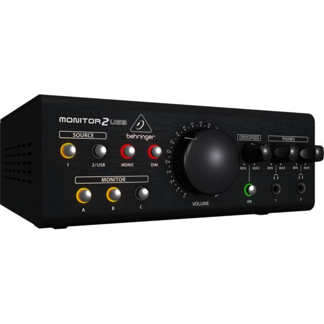 Like N E W Behringer MONITOR2USB Speaker Headphone Monitor