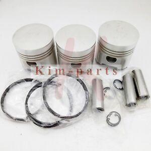 New 3 Sets Piston Ring STD Set Fit for Kubota D1402 Engine