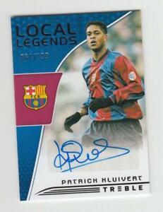 2018-19 Panini Treble Soccer Autograph Auto Card :Patrick Kluivert #064/199