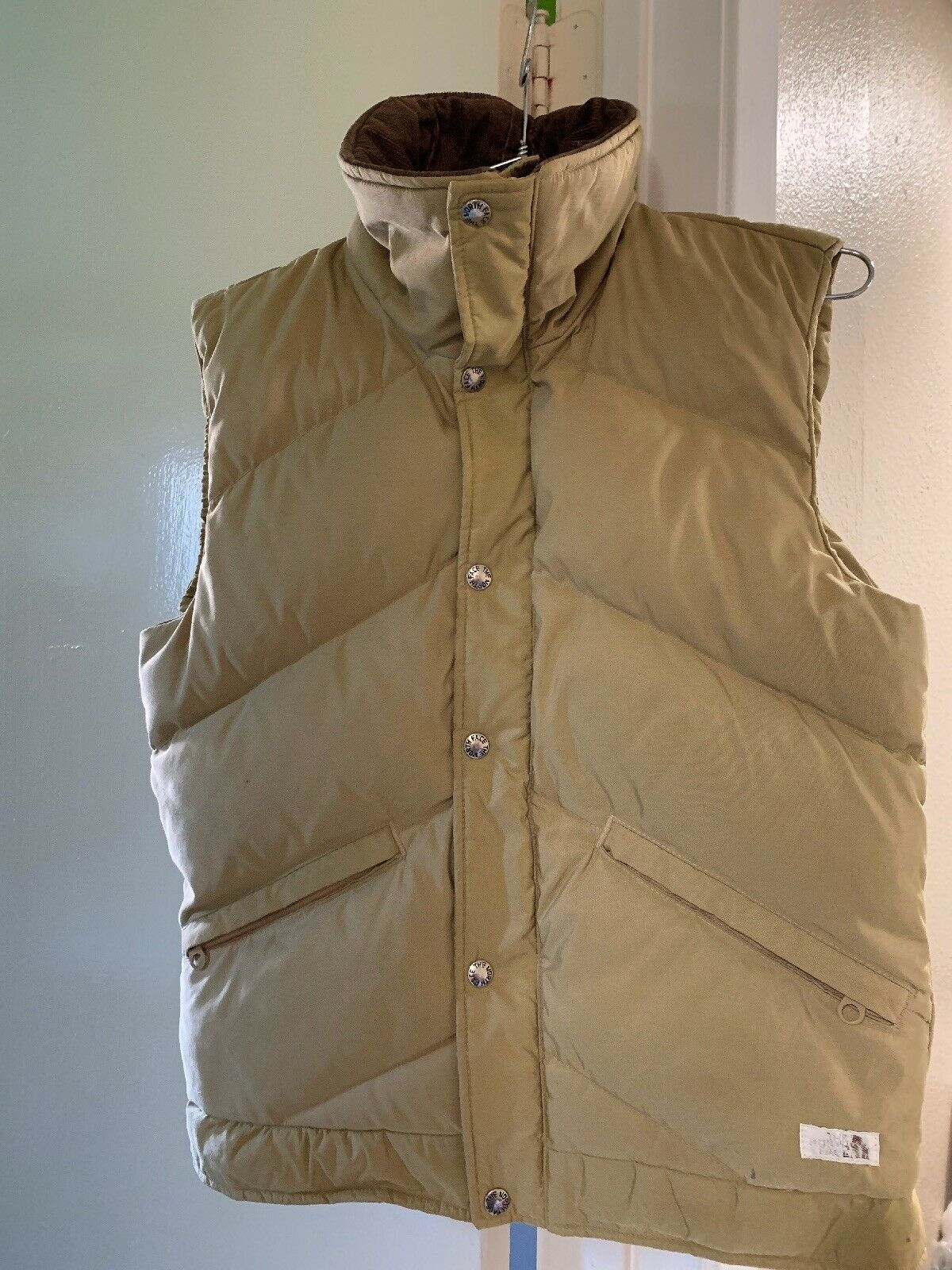 The North Face Vintage Puffer Vest Tan Brown Womens Size Small