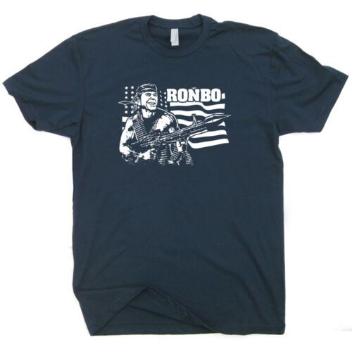 Ronbo T Shirt Ronald Reagan Tee Political Campaign Donald Trump Cool Republican
