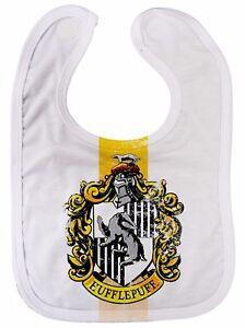 Hufflepuff-Baby-Bib-034-House-Crest-034-Harry-Potter-Hogwarts-All-Over-Print