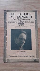El Guía de La Concierto Y Las Teatro Letra - Mark Hamburg - N º 16-1928