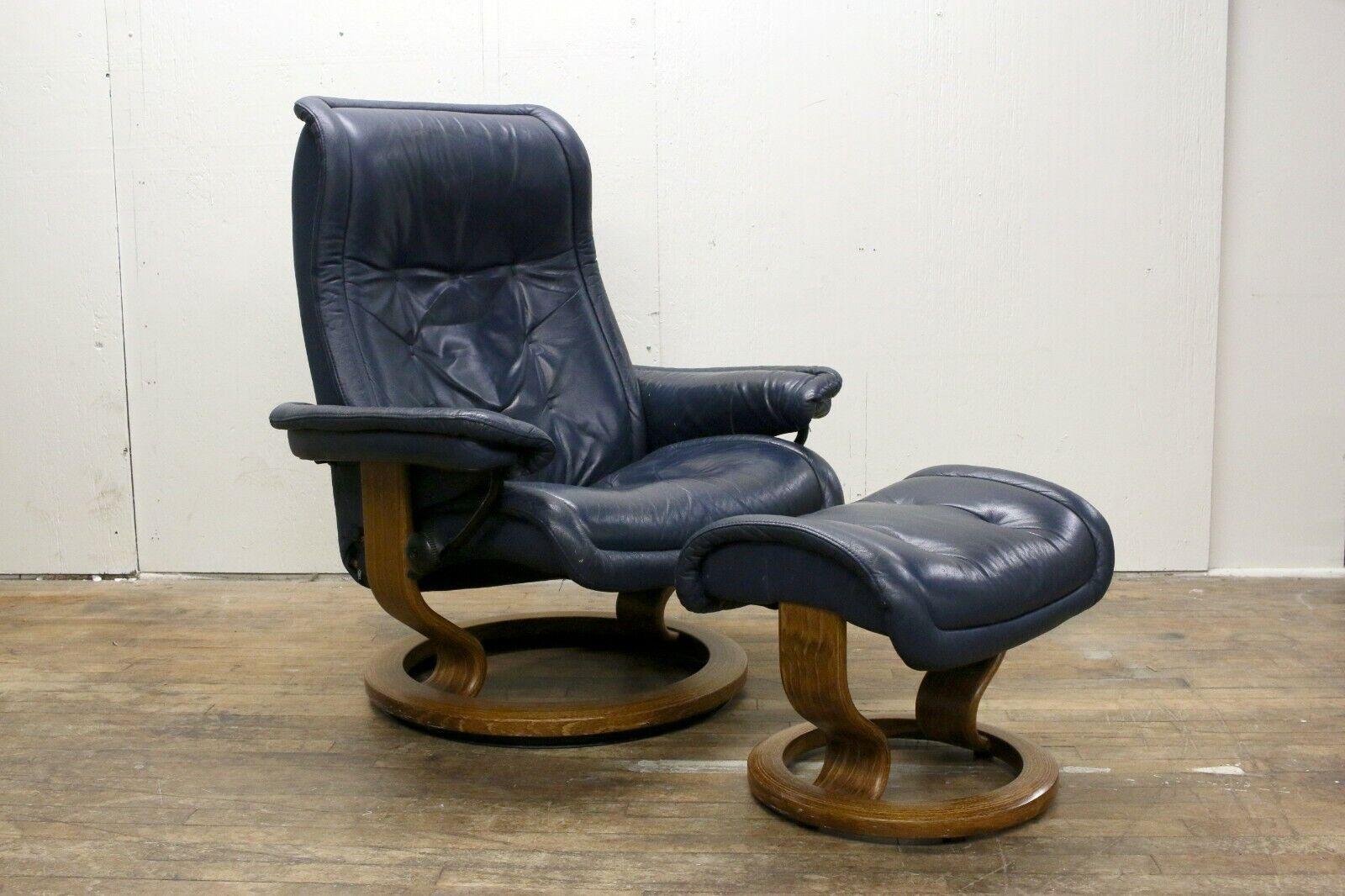 Royal Blue Swivel Chair