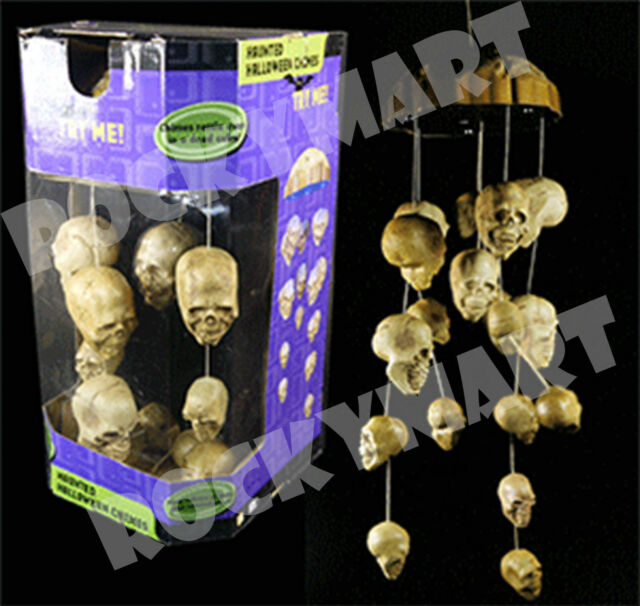animated halloween haunted skull wind chimes rm3219