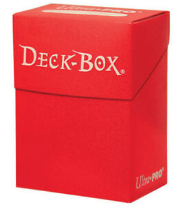Ultra-Pro-RED-DECK-BOX-mtg-Magic-the-Gathering-collectible-card-games-storage