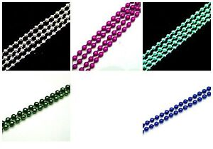 24e2287141dff Details about 1 Metre of Coloured Iron 2mm Ball Chain Various Colours Free  P+P UK Seller
