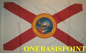 3'x5' Florida State Flag USA Banner Saint Andrew's Cross Seal Indoor Outdoor 3X5