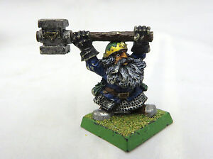 Warhammer-Dwarf-general-lord-champion-army-lot-metal-oop-painted