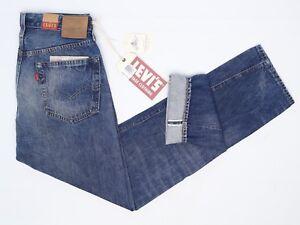 Levis Vintage Vêtements Jeans Hommes 1954 501Z 31x32 Slugger Lisières Pointes