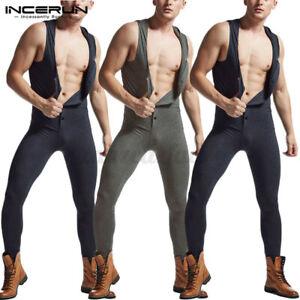 Herren Trikot Jumpsuit Spielanzüge Unterwäsche BodySuit Rompers Reißverschluss